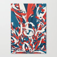 usa Canvas Prints featuring USA by Danny Ivan
