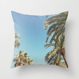 Palms and Bird Throw Pillow