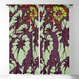 Rex Begonia Illustrated Print Blackout Curtain