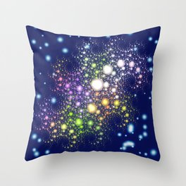 Space Pearls Throw Pillow