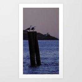 Sunset Observers Art Print