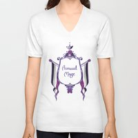 asexual V-neck T-shirts featuring Asexual Mage by armouredescort