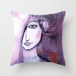 emerging angel Throw Pillow