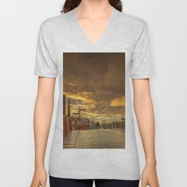 Quiet Conversations at Dusk Unisex V-Neck