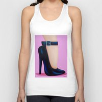 battlefield Tank Tops featuring Pink Lady by Little Bunny Sunshine