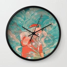 Kitsune Crayon Wall Clock
