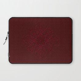 Red Leaf Mandala Laptop Sleeve