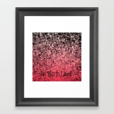 SO THIS IS LOVE Romantic Ombre Valentines Abstract Acrylic Painting Typography Art Red Pink Black Framed Art Print