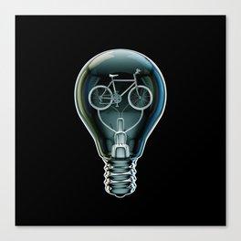 Dark Bicycle Bulb Canvas Print