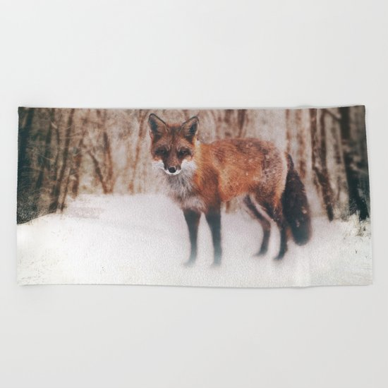 Winter Visitor Beach Towel