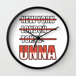 Unna Cities Gift Idea Wall Clock