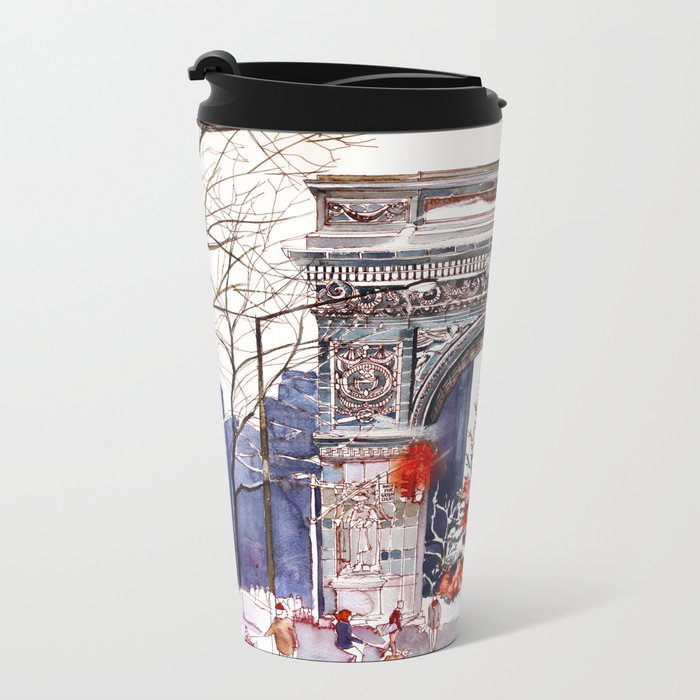 Wait for green light Metal Travel Mug