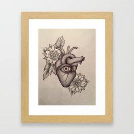 Keep A Close Watch On Your Heart Framed Art Print