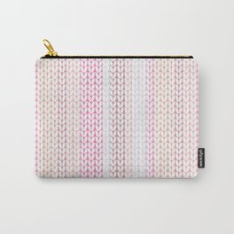 Knitted pattern in pastel colours.2 Carry-All Pouch