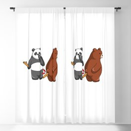 Hey Bear Panda Put Stick to Grizzly Blackout Curtain
