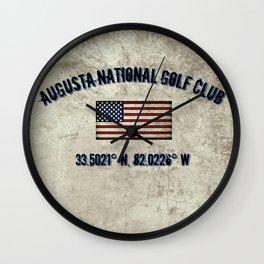 Augusta National Golf Club, Coordinates Wall Clock