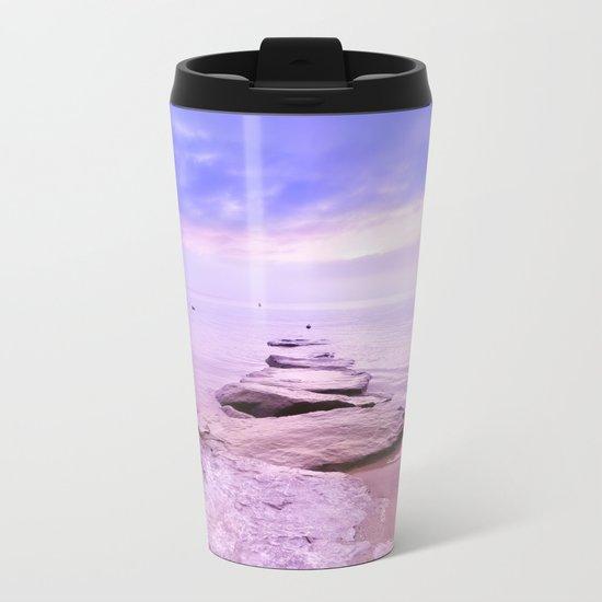 Rock the Sunset Landscape Metal Travel Mug