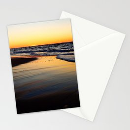 Beach after the Wave at Sunset Stationery Cards