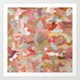 Coral Beads Paint Splatter 5050 Art Print