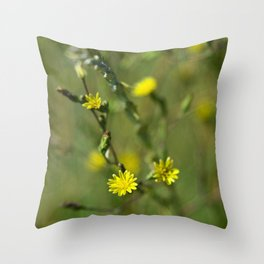Golden flowers by the lake 2 Throw Pillow