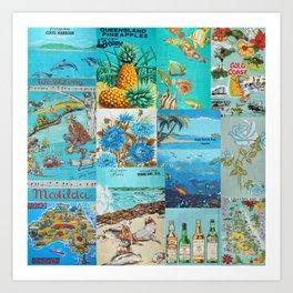 Australian Vintage Tea Towels  Art Print
