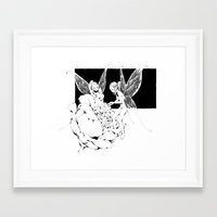 pixies Framed Art Prints featuring Pixies by Andrew Mar