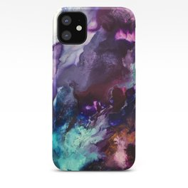 Expressive Flow 1 - Mixed Media Pain iPhone Case