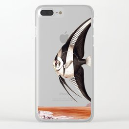 Plenty of fish in the sea yellow Clear iPhone Case