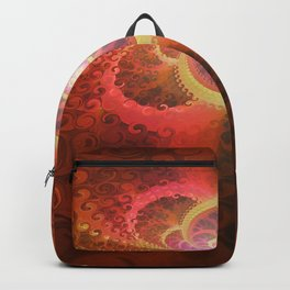 A Beautiful Fractal Burst of Liquid Sunset Colors Backpack