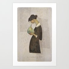 So I swallowed my sorrow Art Print