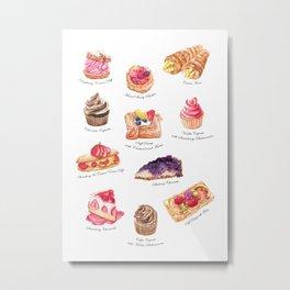 Cakes & Pastries #1 Metal Print