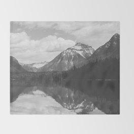 Peace At Lake McDonald  Throw Blanket