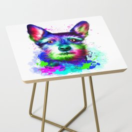 Terrier digital art Side Table