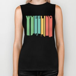 Retro 1970's Style Wheeling West Virginia Skyline Biker Tank