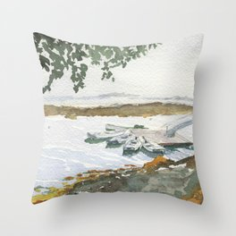 The Boats Are Singing Throw Pillow