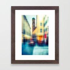 Frauenkirche - Munich - vintage Framed Art Print