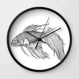 Betta Illustration Wall Clock