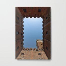 Siena Italy Tuscany Torre del Mangia Metal Print