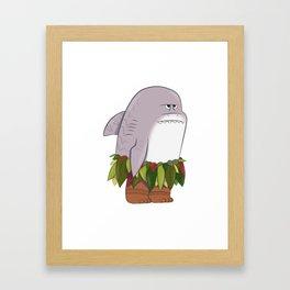 Shark Head Framed Art Print