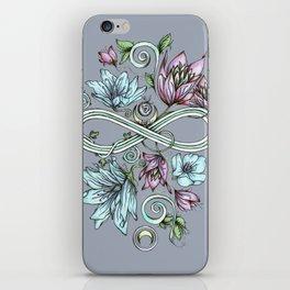 Infinity Floral Moon Garden in Gray iPhone Skin