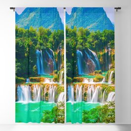Ban Gioc Waterfall Detian Falls Vietnam Ultra HD Blackout Curtain