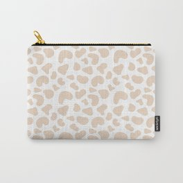 Modern pastel brown abstract animal print vector Carry-All Pouch