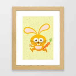 Smiling Little Bunny Framed Art Print