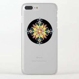 Alhambra Stained Glass Clear iPhone Case