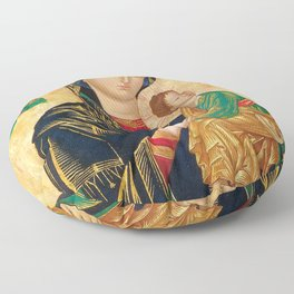Our Mother of Perpetual Help Virgin Mary Floor Pillow