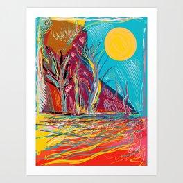 I Miss the Sunshine Abstract Landscape Fauvism Art Art Print