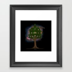 Cosmos Tree House Framed Art Print