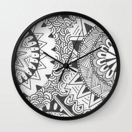 Mandala Cat Wall Clock