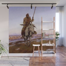 """A Cree Indian"" by Charles Russell Wall Mural"