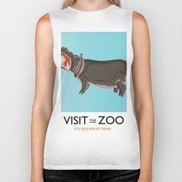 visit the zoo hippopotamus edition Biker Tank
